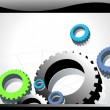 Background with mechanical gears — Stock Vector