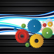 Background with colorful cogwheel - Stock Vector