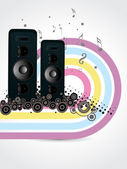 Background with set of musical speaker — Stock Vector