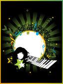 Vektor-illustration der musikalischen hintergrund — Stockvektor