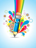 Vector Cartoon pencil — Vettoriale Stock