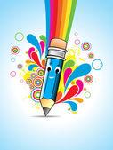 Vector Cartoon pencil — Stock Vector