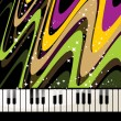 Abstract background with piano - Stok Vektör