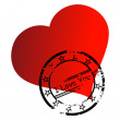Vector stamp on romantic heart - Stock Vector