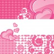 Abstract romantic love background — Imagen vectorial