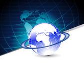 Mapa de fundo com globo isolado — Vetorial Stock