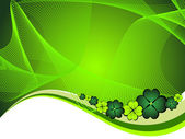 Vector wave background with shamrock — Stock Vector