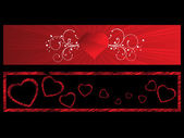 Background with set of romantic header — Stock Vector