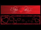 Фон с набором романтический заголовка — Cтоковый вектор