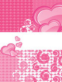 Abstract romantic love background — Vector de stock