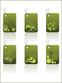 Background with set of patrick day tag — Stock Vector