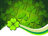 Vector shamrock pattern background — Vettoriale Stock