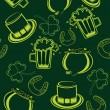 Seamless pattern background for patrick day — Imagens vectoriais em stock