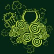 Vector happy st patricks day pattern background — Stockvectorbeeld