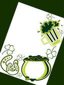 Background with happy st. patrick's day element — 图库矢量图片