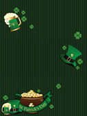 Background with patrick day elements — Stock Vector