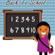 Vector back to school concept — Stock Vector