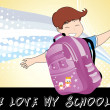 Vector i love my school — Stock Vector