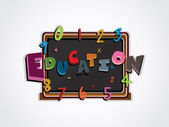 Vector illustration of education background — Stock Vector