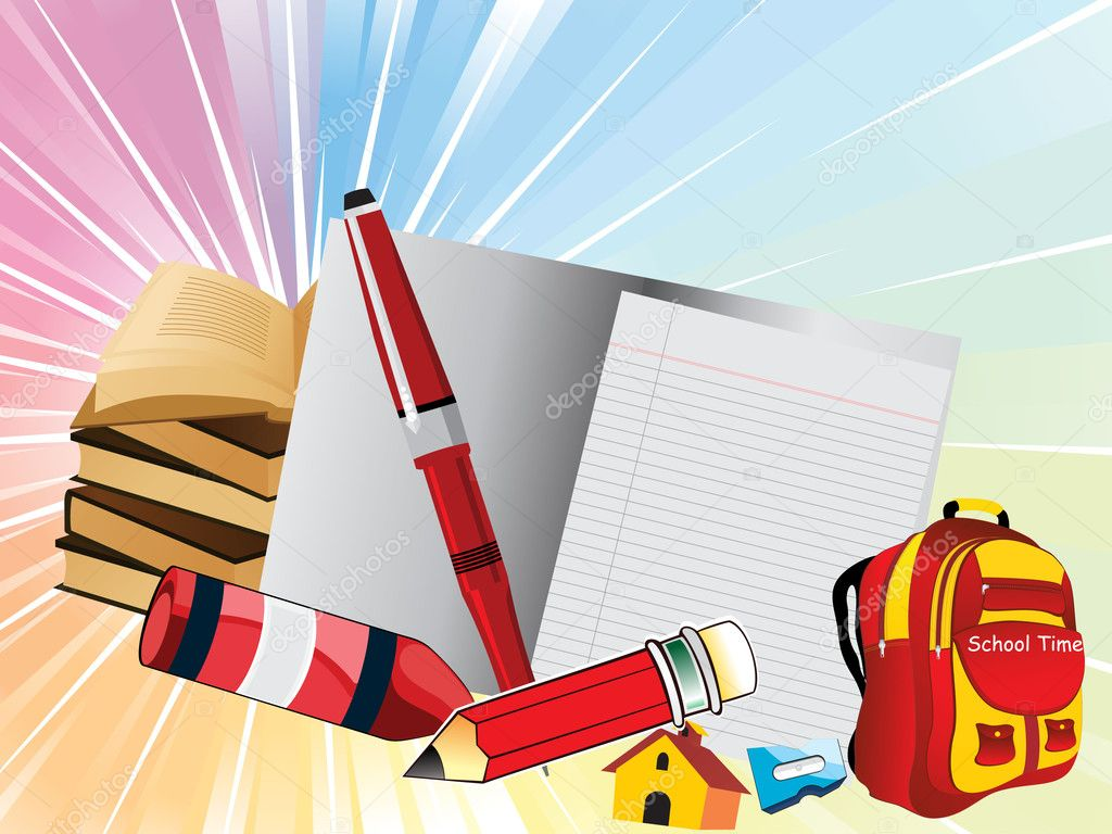 Vector education background — Stock Vector ...