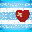 Abstract medical background with bandage heart — 图库矢量图片 #5026866
