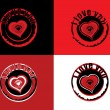 Vector set of valentine day stamp — Imagen vectorial