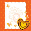 Vector greeting card for valentine day — Image vectorielle