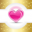 Twinkle star background with valentine heart — Imagen vectorial