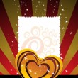 Background with romantic heart - Stock Vector