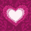 Artwork background with romantic heart - Stockvectorbeeld