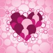 Background with romantic heart - Stockvectorbeeld