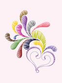 Creative valentine day illustration — Stock Vector