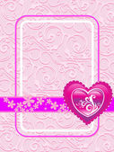 Vector card for valentine day — Stock Vector