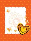 Vector tarjetas de felicitación para el día de san valentín — Vector de stock