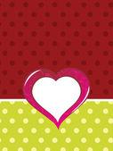 Achtergrond met geïsoleerde hart — Stockvector