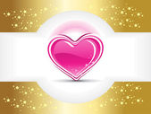 Twinkle star background with valentine heart — Stock Vector