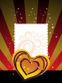 Achtergrond met romantische hart — Stockvector