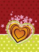 фон с розовым налетом, романтическими сердце — Cтоковый вектор
