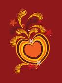 Plano de fundo com arte decorada coração — Vetorial Stock