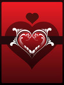 Fundo com coração decorado isolado — Vetorial Stock