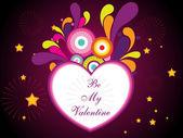 Kleurrijke vectorillustraties met hart — Stockvector