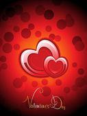 Sfondo di bolla con cuore romantico — Vettoriale Stock