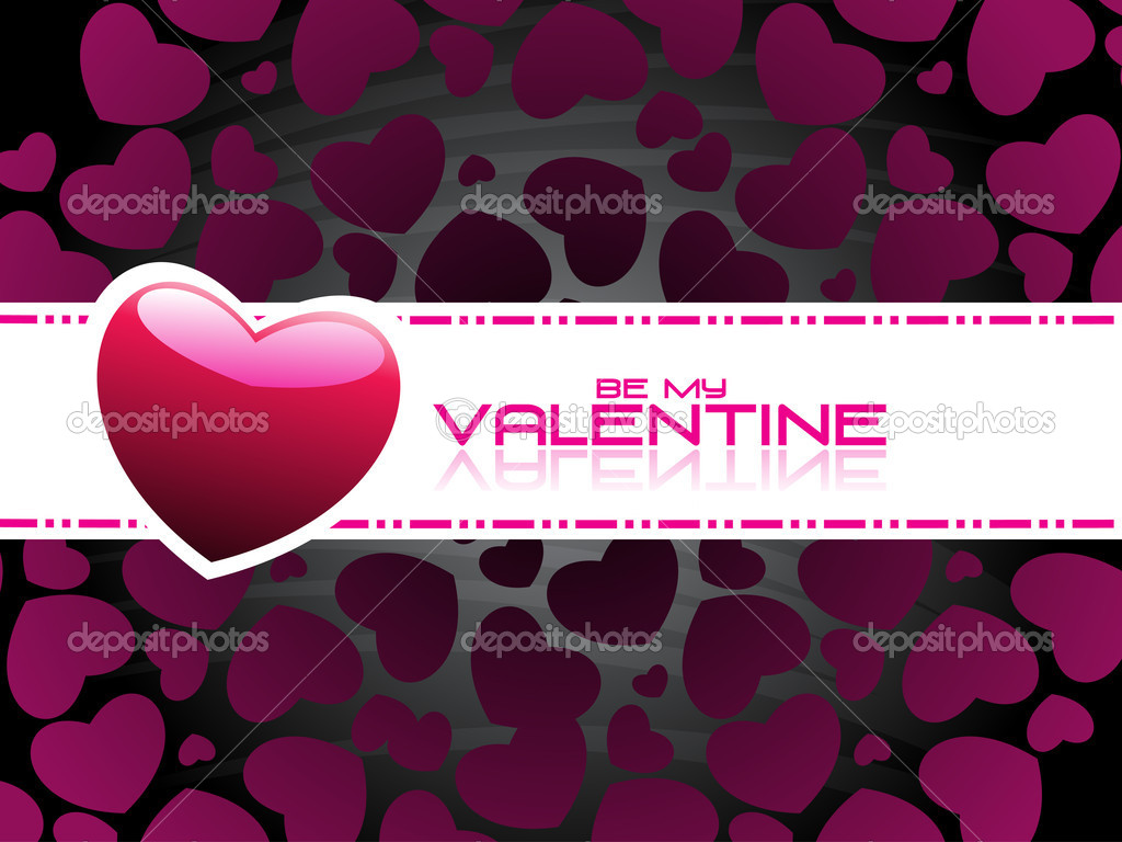 Vector illustartion of romantic wallpaper for valentine day  Stock Vector #5027398