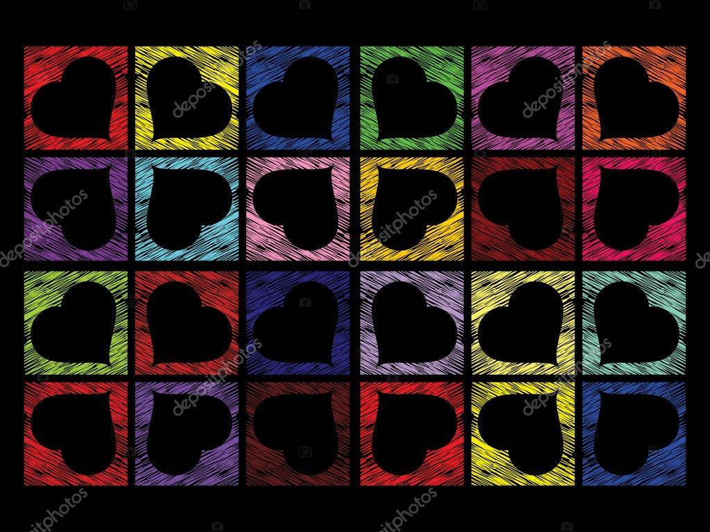 Vector colorful heart shape background — Stock Vector © Kirti