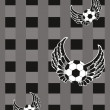 Background with ornate design football — 图库矢量图片