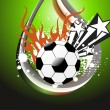 Grungy background with fiery football — Stock Vector