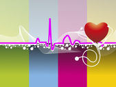 Vector heartbeat background — Stock Vector