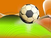 与孤立足球背景 — 图库矢量图片