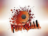 Texture background with isolated football — Stock Vector