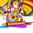 Background for happy holi celebration — Stock Vector